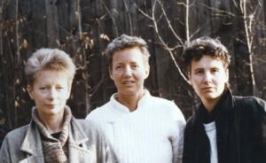 Von links: Anna, ich, Jutta