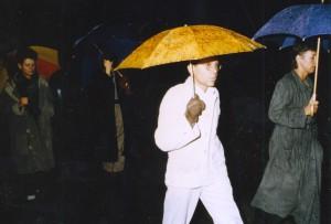 Regen auf dem Parteitag