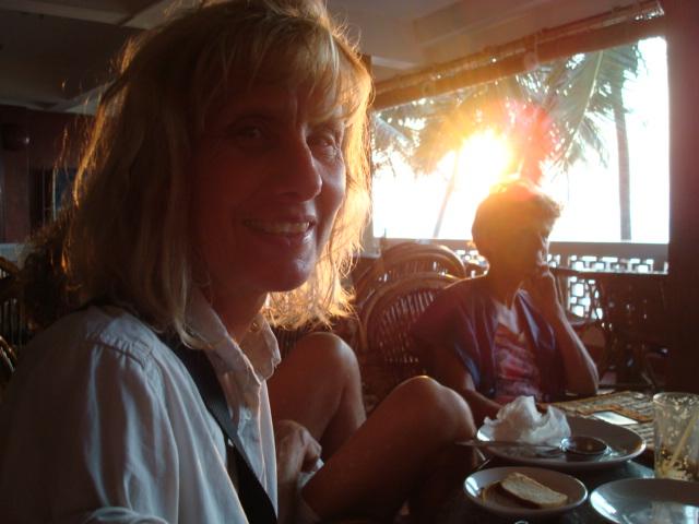 Jutta und Brigitte auf unserer Reise in Kerala (Südindien)