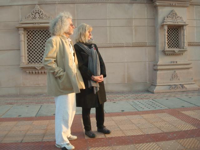 Jutta und Rainer in Delhi