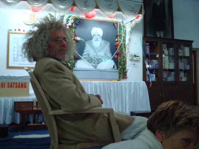 Rainer im Ashram von Chandigarh